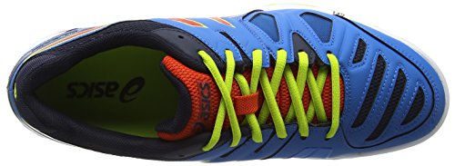 Asics Gel-Game 5 Herren Tennisschuhe Blau (methyl Blue/orange/lime 4209)
