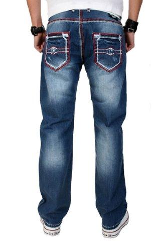 Creek rock homme rC - 2026 design vintage jean pour homme Bleu - Bleu