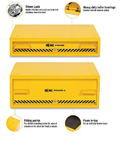 Van Vault S10346 Stacker Tool Chest - Yellow