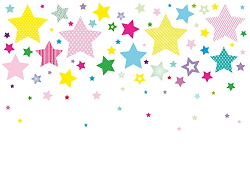 Preisvergleich Produktbild anna wand Wandsticker STARS 4 GIRLS - Wandtattoo für Kinderzimmer / Babyzimmer mit Sternen in versch. Farben und Größen - Wandaufkleber Schlafzimmer Mädchen & Junge, Wanddeko Baby / Kinder