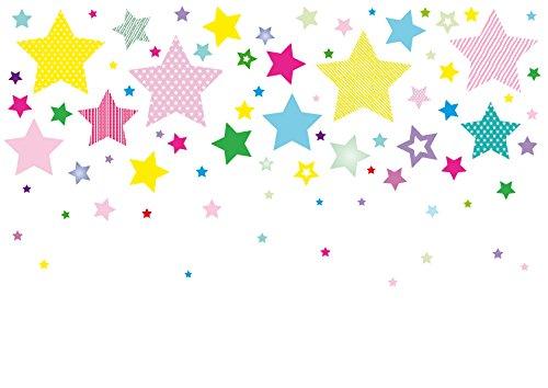 farben schlafzimmer waende anna wand Wandsticker STARS 4 GIRLS - Wandtattoo für Kinderzimmer/Babyzimmer mit Sternen in versch. Farben und Größen - Wandaufkleber Schlafzimmer Mädchen & Junge, Wanddeko Baby/Kinder