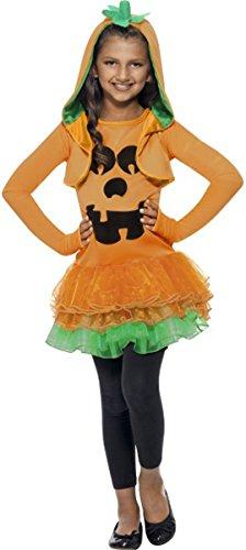 Smiffys Halloween Fancy Kleid Mädchen Kürbis Tutu Kleid Kostüm Komplettes Outfit orange