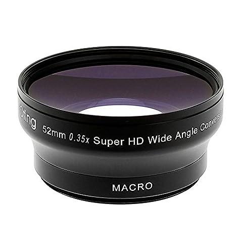 Objectif Fisheye 0,35X avec Macro pour Canon EOS 1300D 1200D