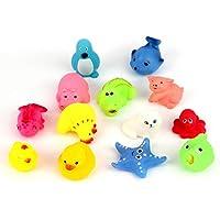 Dooret 13 Teile / Satz Schöne Mixed Tiere Weichen Gummi Float Squeeze Sound Quietschende Bade Spielen Spielzeug Für Baby für Kleine hände zu erfassen preisvergleich bei kleinkindspielzeugpreise.eu
