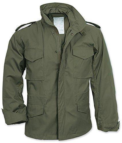 Uomo M65Esercito Militare americano da combattimento Vintage Parka Cappotto, Taglia: XS-XXL Olive L