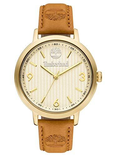 Timberland Damen Analog Quarz Uhr mit Leder Armband TBL15643MYG.01