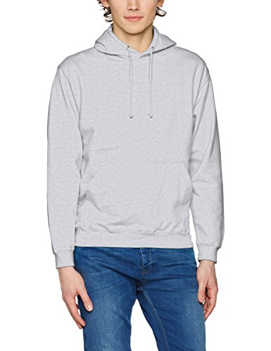 AWDis Herren Kapuzenpullover College Hoodie, Weiß, Small Grau (Heather Grey)