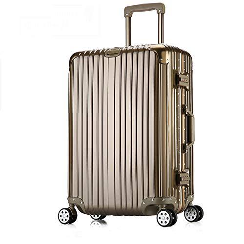 Gepäckhardside Reisetasche Trolley-Koffer W/Spinner Räder leicht und langlebig Gepäck für Reise, Busines,Bronze,24in