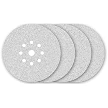 25 Abrasivos blancas con velcro de MENZER para lijadoras de pared - Ø 225 mm - granulado 40 - 9 agujeros