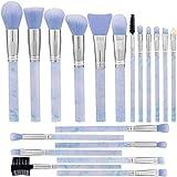 Makeup Brushes ALLFY 19Pcs Marble Pattern Make Up Brushes Set Professional Premium Synthetic
