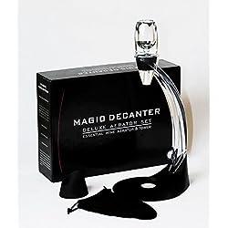 WMicroFR Ensemble complet Decanter - Aérateur à vin magique de luxe avec support et socle + Filtre contre sédiments