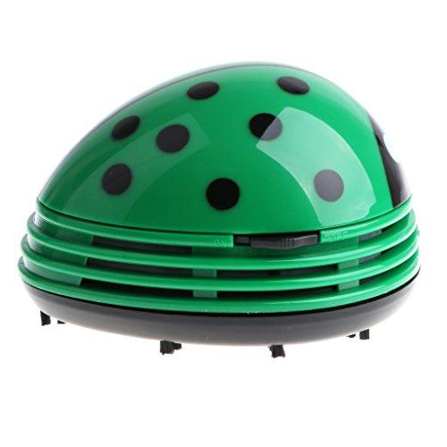 Baoblaze Mini Tisch Staubsauger Käfer Tischstaubsauger für Asche Oder Staub Reiniger - Grün
