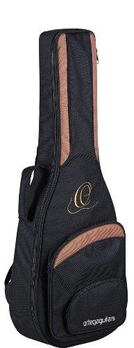 Ortega ONB44 hochwertige Konzertgitarren Tasche 4/4 Größe mit Rucksackgarnitur schwarz