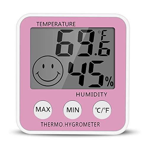 CWC LCD Digital Interior higrómetro termómetro