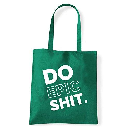 Art T-shirt, Borsa Shoulder Do Epic Shit, Shopper, Mare Verde