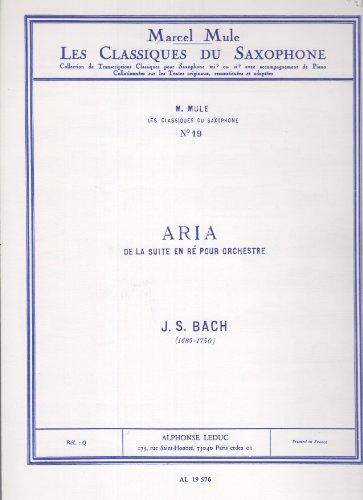 CLASSIQUE SAXOPHONE MIB N0019 SUITE EN RE:ARIA