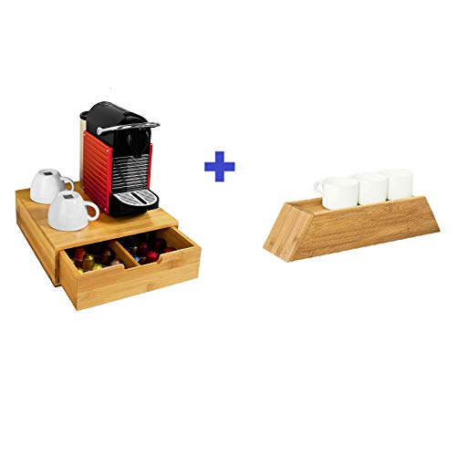 SoBuy Portacapsule, Contenitore per capsule caffé, bustine tè, FRG70-N+FRG259-N, IT