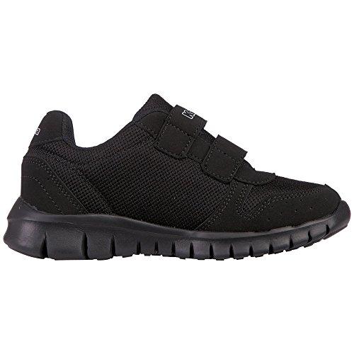 Kappa Note, Sneakers Basses Mixte Enfant Noir (1111 Black)