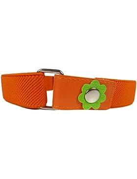 Cinturón Elástico para los Niñas 1-6 Años, Flor Clip Diseño