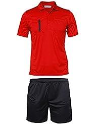 ANAM Fußball Fußball Schiedsrichter Kit Short Sleeve Shirts Uniform + Hose, mit Reißverschluss und Klettverschluss Taschen.