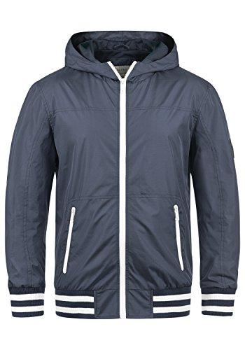 Blend Novan Herren Übergangsjacke Herrenjacke Jacke Mit Kapuze, Größe:S, Farbe:Mood Indigo (74648)