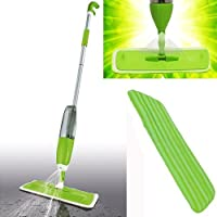2 in 1 - 750ml Spray Mop Kit with Window Cleaner | Reusable Microfibre Pad Safer Than Steam for; Hardwood, Tile, Laminate, Wood, Carpet, Refill Bottle Wet Wipes by Guilty Gadgets