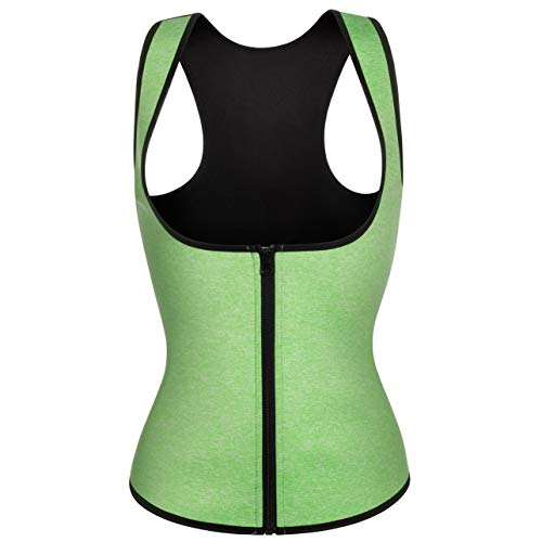 Damen Fitness Neopren Waist Trainer Sauna-Anzug Weste Hot Sweat Sport Body Shaper Promotes Workout Shirt (L, Light ()