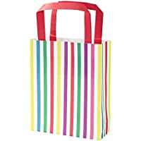 Talking Tables Mix and Match Multi Stripe Paper Treat Party Bags for Birthday, Tea Party, Wedding and Party Celebrations, Multicolour (8 Pack)