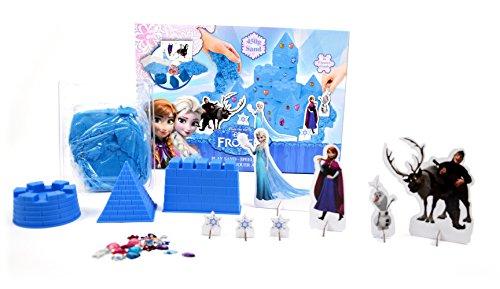 Brigamo FR99904 – Disney Frozen Sandspielzeug Eiskönigin Elsas funkelnder Eispalast aus Knetsand inklusive Förmchen, Figuren und funkelnden Klitzersteinen - 2