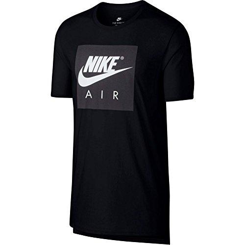 Nike 892313, T-Shirt Herren M Schwarz/Weiß (Nike Schwarz Herren Jacke)