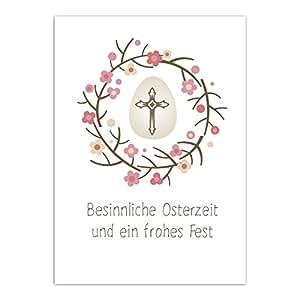 15 x Postkarten zu Ostern mit Umschlägen im Set / Osterkarten modern Osterfest Kirche Kreuz / Osterpostkarten