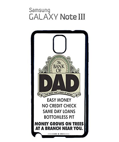 The Bank Of Dad Easy Money Grows On Trees Funny Credit Mobile Phone Case Samsung Note 3 White Noir