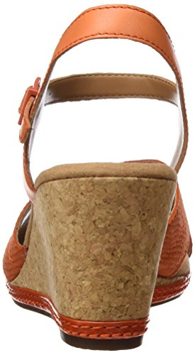 Clarks Helio Latitude, Women's Ankle Strap Sandals, Orange (Orange Leather), 5 UK (38 EU)