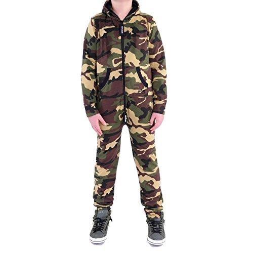 Jumpsuit Overall Jogger Anzug Onesie Camo Grün 18-24 Monate (Mädchen Army Kostüme)