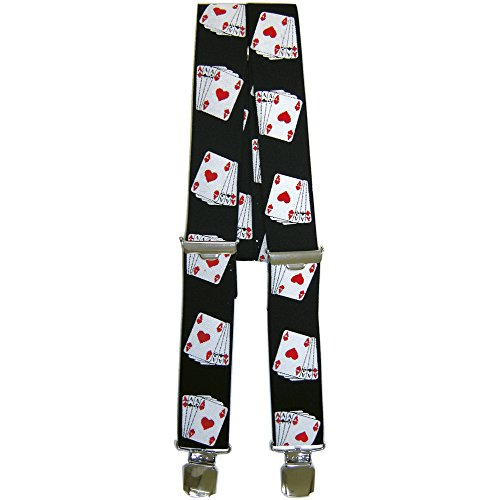 Hosenträger Hosenhalter - Karten As Asse - 06772 (Las Vegas Männer Für Kostüme)