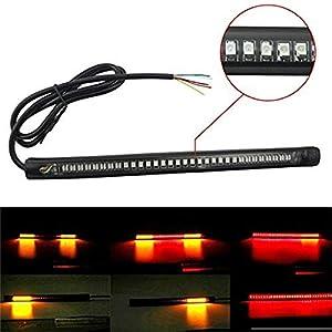 2X Auto Blinker Ultrafein 30cm 45cm 60cm DRL Flexibles weiches LED Streifen Licht Blinker Lampen Tagfahrlicht Tear Strip Autoscheinwerfer Wei/ß Wird gelb,45cm