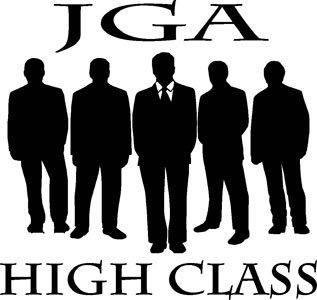 Mister Merchandise Herren Men V-Ausschnitt T-Shirt JGA - High Class Tee Shirt Neck bedruckt Navy