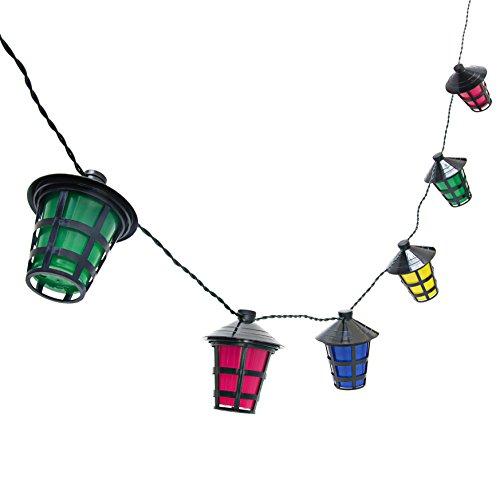 Relaxdays Lichterkette 20er, Partybeleuchtung mit Laternen, Partylichterkette strombetrieben, drinnen & draußen, bunt