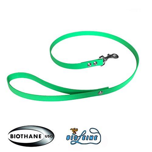 bio-leine Führleine Leine aus Biothane I Hundeleine für kleine und große Hunde I Wasser- und schmutzabweisend I 9 mm breit - 1,2 m lang, Neongrün