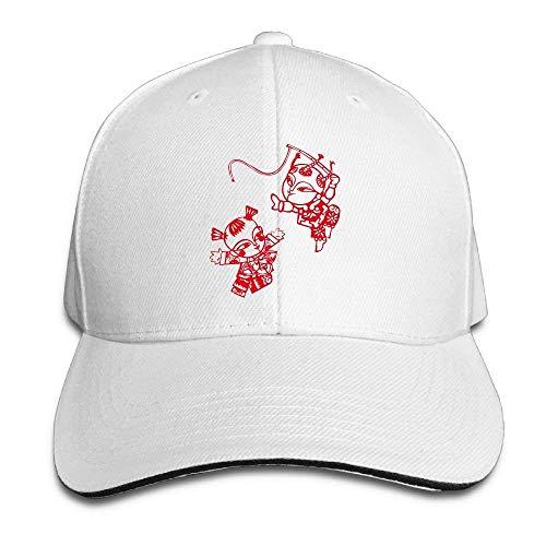 ferfgrg Adjustable Hat Hiptop Baseball Cap Dad Hats Paper Cut Classic Adjustable Cap HI872 -