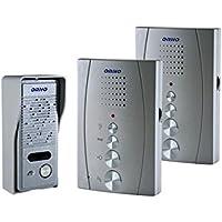 1famiglie casa con 2telefoni domestici interfono citofono aria Silber