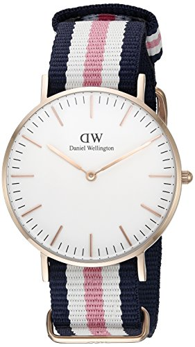 Daniel-Wellington-Womens-Quartz-Watch-Classic-Southampton-Lady-0506DW-with-Nylon-Strap