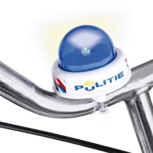 JOHNTOY Sirène pour vélo avec lumière « Police » accessoires vélo, multicolore