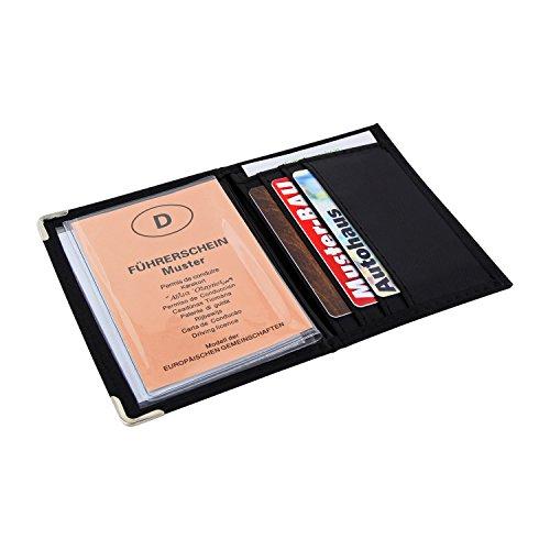 MACEMARO TRADING - Cartellina astuccio porta documenti e tessere di elevata qualità, colore: nero