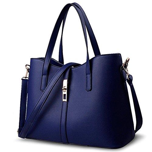 FAIRYSAN, Borsa tote donna Blu azul claro large azul oscuro
