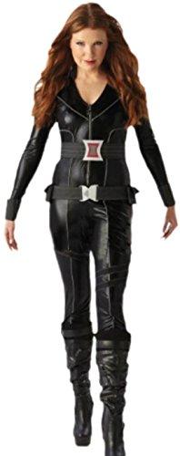 erdbeerloft - Damen Karnevalskomplettkostüm schwarze Witwe , XS, Schwarz