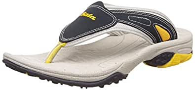 Bata Men's Foot Thrill J2 Grey Flip Flops Thong Sandals - 11 UK/India (45 EU)(8717709)