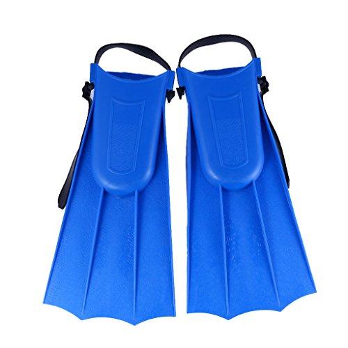 Kinder Erwachsene Verstellbare Flossen Schwimmen Tauchen Schwimmflossen - Blau, M: 30-36