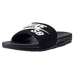 Nike Men's Benassi Solarsoft Sb Beach & Pool Shoes, Black (Blackwhite 001), 9 Uk