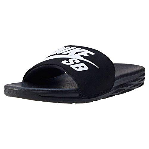 Nike SB Herren Sneaker Benassi Solarsoft Slide - BLACK/WHITE , Größe:9